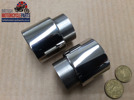 97-1194/S Fork Seal Holders Stainless 1959-63 - PAIR