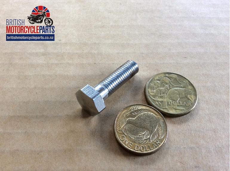 97-1340 Handlebar Clamp Bolt - Chrome - British Motorcycle Parts NZ