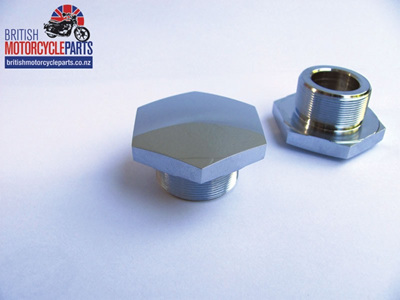 97-2245 Fork Stanchion Nut - Triumph BSA