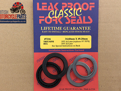 97-4001LP Fork Seal Kit - TRI/BSA Conical & Disk PAIR - 97-7010