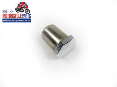 97-4029 Steering Stem Nut Chrome - Coarse - Conical