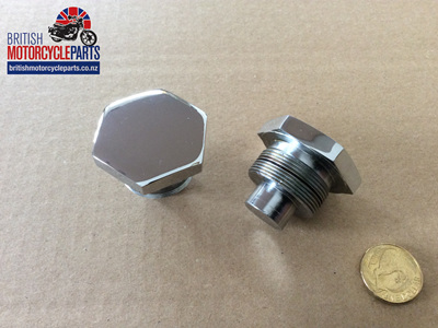 97-4258C Fork Stanchion Top Nut Conical - Chrome
