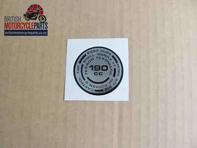 97-4259 190cc Fork Top Sticker - Triumph