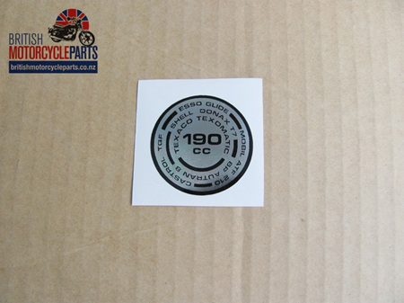 97-4259 190cc Fork Top Sticker - Triumph