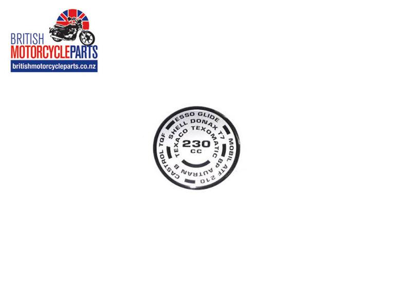 97-4310 230cc Fork Decal - Triumph T150 Trident - British Motorcycle Parts Ltd