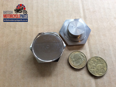 97-4395/SR Stanchion Top Nut Disc - Stainless Recess - Pair