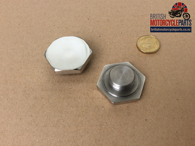 97-4395S Stanchion Top Nut Disc - Stainless - PAIR