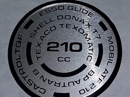 97-5078 Fork Cap Decal - 210cc