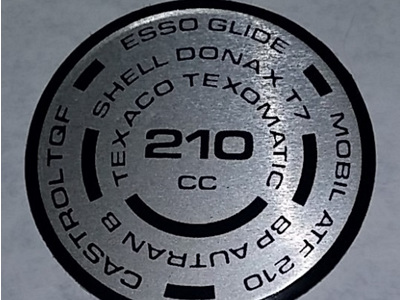 97-5078 Fork Cap Decal - 210cc