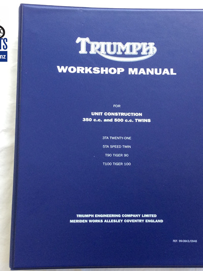 99-0843 Workshop Manual - Triumph 350 500 - 99-0948