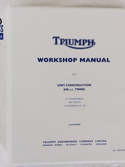 99-0883/0889 Workshop Manual Triumph 650 1963-70