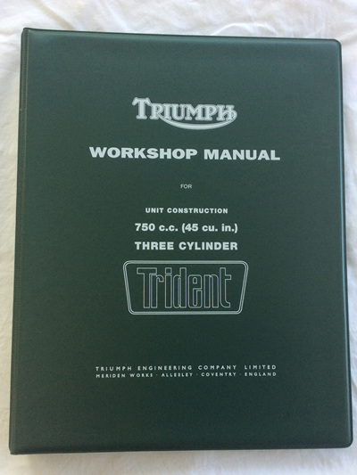 99-0887 99-0963 Workshop Manual - Triumph T150 Trident