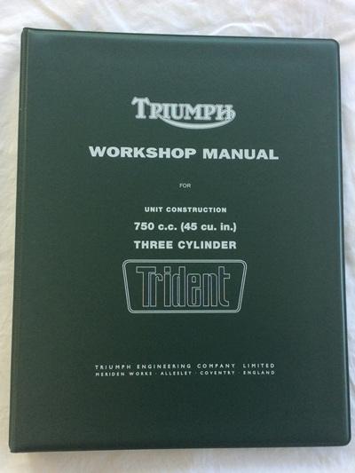 99-0887 99-0963 Workshop Manual - Triumph T150 Trident