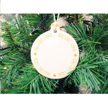 9cm Hilda Hanging Merry Xmas Deco
