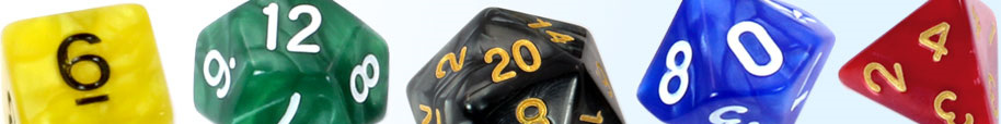 Sets of 7 Marble Dice
