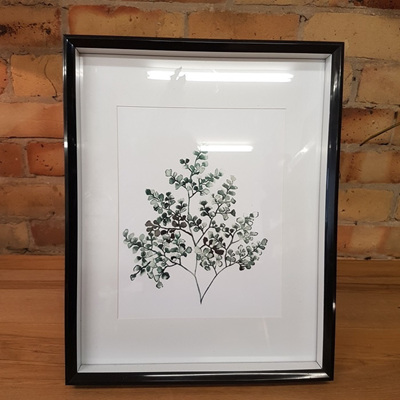 Dotty Fern Watercolour Print A4