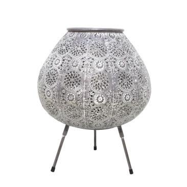 Aabida Pressed Metal Table Lamp - White Wash - 29.5x36.5cmh