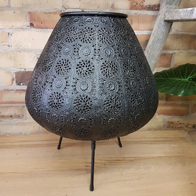 Aadila Pressed Metal Lamp - 39.5x50cmh