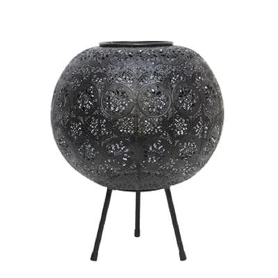 Aadila Pressed Metal Table Lamp - Matt Black/Large