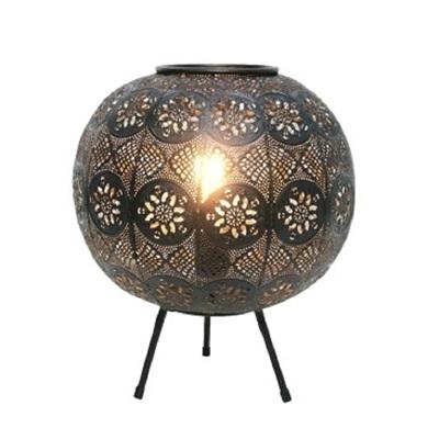 Aadila Pressed Metal Table Lamp - Matt Black/Small