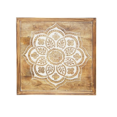 Abana Wooden Carved Wall Panel 60cm