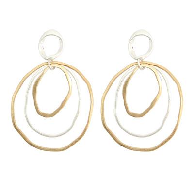Abbie Earrings - Gold & Silver