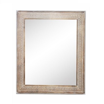 Abdera Wooden Carved Bevelled Mirror 100x120cm