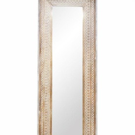 Abdera Wooden Carved Bevelled Mirror 50x150cm