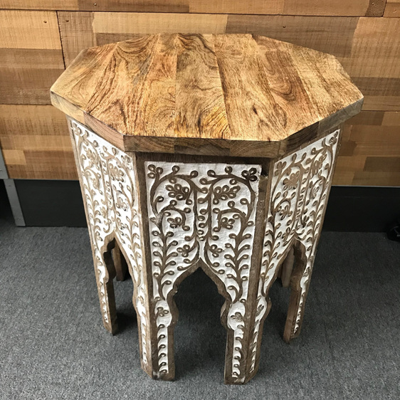 Abia Wooden Carved Tables