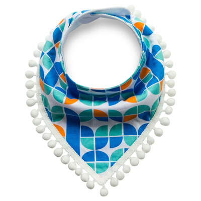Abstract Pattern Tassle Bandana Bib