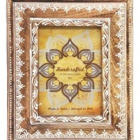Acacia Wooden Carved Photo Frame 5x7