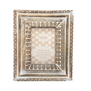 Accho Wooden Carved Photo Frame - 4x6