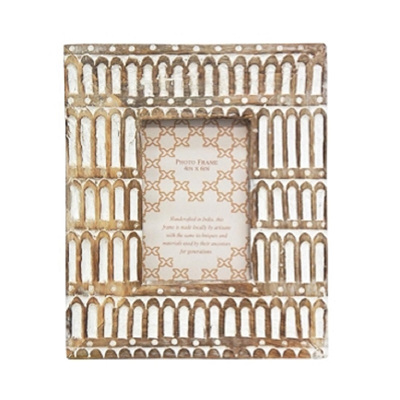 Achaia Wooden Carved Photo Frame - 4x6