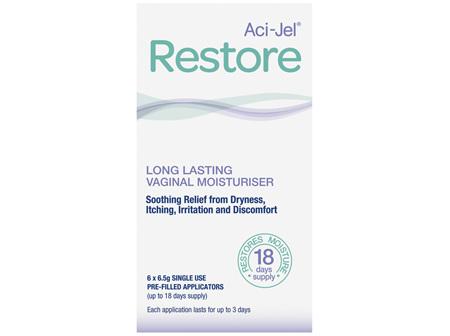 Aci-Jel Restore Vaginal Moisturiser 6 x 6.5g