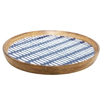 Adahy Wooden Platter W Decal - 30cm