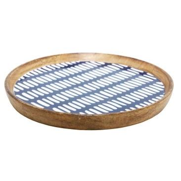 Adahy Wooden Platter W Decal - 30cm