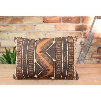 Adder Cushion - Rust/Black 35x50cm