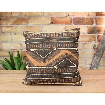 Adder Cushion - Rust/Black 45x45cm