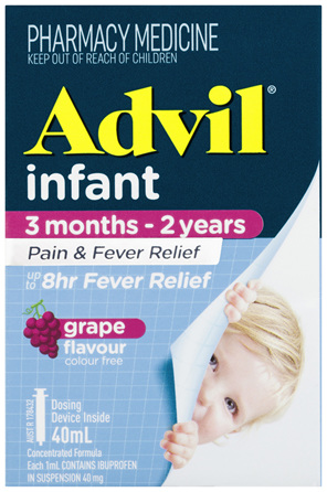 Advil Infant 3 Months-2 Years Pain & Fever Relief Grape 40mL