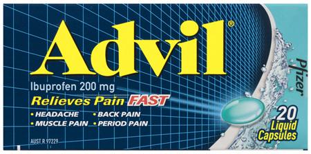 Advil Liquid Capsules 20 Pack