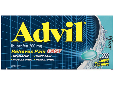 Advil Liquid Capsules 20 Pack