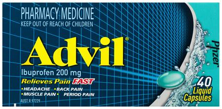 Advil Liquid Capsules 40 Pack