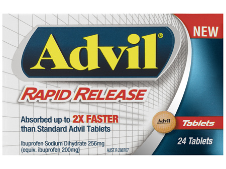 Advil Rapid Release Tablets 24 Pack