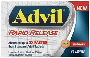 Advil Rapid Release Tablets 24 Pack