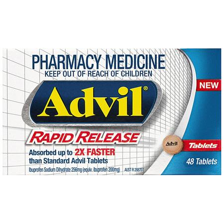 Advil Rapid Release Tablets 48 Pack