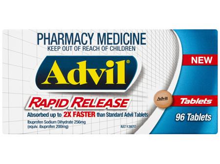 Advil Rapid Release Tablets 96 Pack