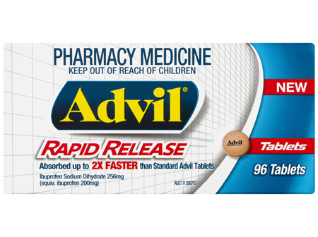 Advil Rapid Release Tablets 96 Pack