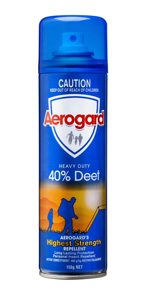 Aerogard Heavy Duty 40% Deet Insect Repellent Aerosol Spray 150