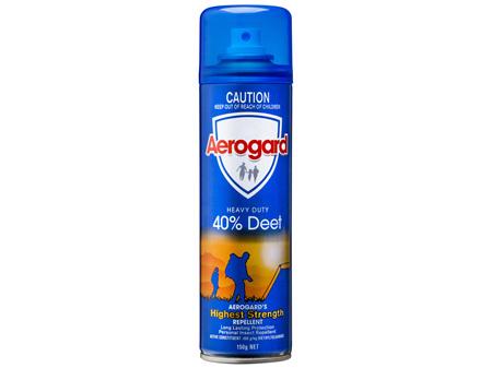 Aerogard Heavy Duty 40% Deet Insect Repellent Aerosol Spray 150
