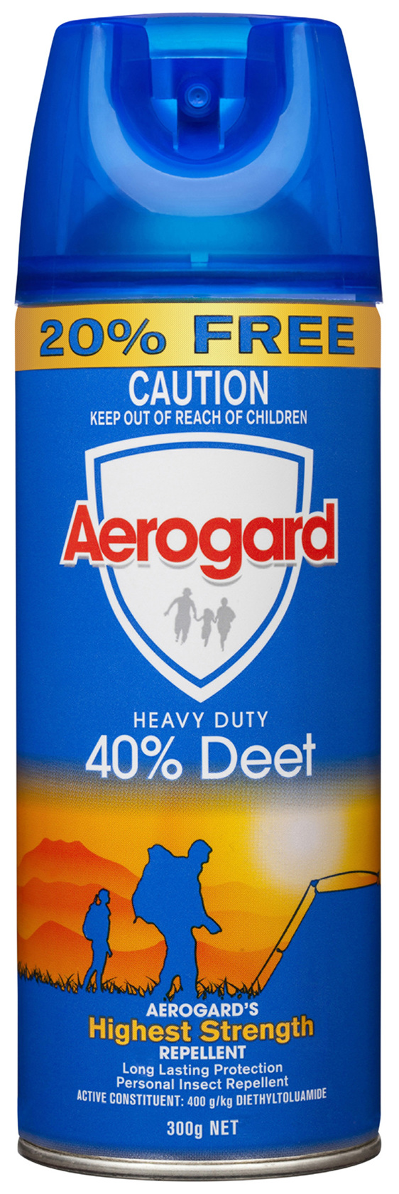 Aerogard Heavy Duty 40% Deet Insect Repellent Aerosol Spray 300g
